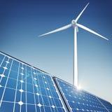 Зеленая концепция энергии иллюстрация штока