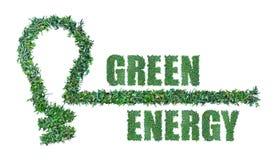 Зеленая концепция энергии Стоковое Фото