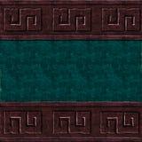 Зеленая коричневая текстура стены Стоковые Изображения RF