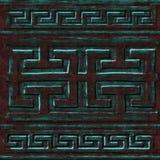 Зеленая коричневая текстура стены Стоковые Фото