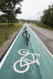Зеленая майна велосипеда Стоковое фото RF