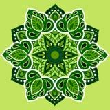 Зеленая мандала Стоковые Фотографии RF