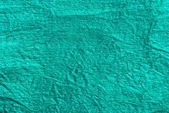 Зеленая металлическая текстура предпосылки фольги Стоковые Фото