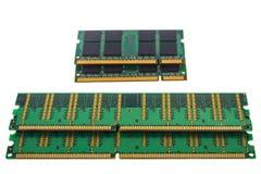 Зеленая микросхема ГДР RAM для ПК и тетради стоковые фотографии rf