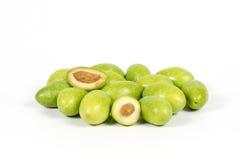 Зеленая молодая оливка Стоковое Изображение
