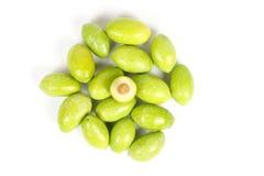 Зеленая молодая оливка Стоковые Фото