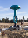 Зеленая модулирующая лампа на газопроводе Стоковые Изображения