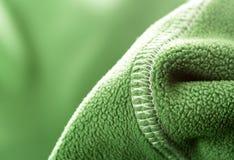 Зеленая мягкая синтетическая ватка стоковое фото