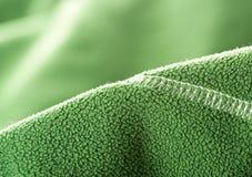 Зеленая мягкая синтетическая ватка стоковая фотография rf