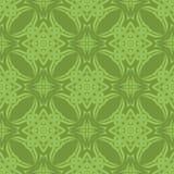 Зеленая орнаментальная безшовная линия картина Стоковое Изображение