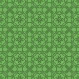 Зеленая орнаментальная безшовная линия картина Стоковое фото RF