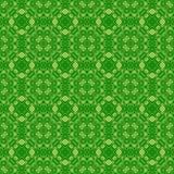Зеленая орнаментальная безшовная линия картина Стоковое Изображение RF