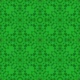 Зеленая орнаментальная безшовная линия картина Стоковые Изображения RF