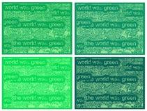 Зеленая охрана окружающей среды, декоративные графики стоковое фото