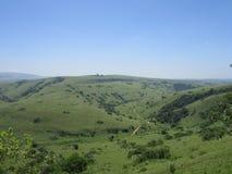 Зеленая долина в предгорьях сельской Южной Африки Стоковая Фотография RF