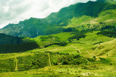 Зеленая долина около des Merveilles Vallée Стоковое фото RF