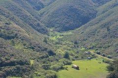 зеленая долина стоковая фотография
