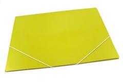 Зеленая папка портфолио стоковые изображения