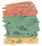 Зеленая поздравительная открытка с Новым Годом Стоковое Изображение RF
