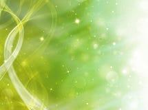 Зеленая праздничная предпосылка Стоковое Изображение