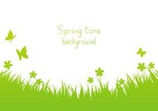 Зеленая предпосылка весны иллюстрация вектора
