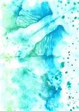 Зеленая предпосылка конспекта watercolour стоковые фото