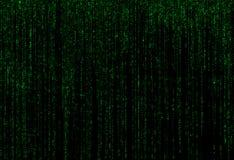 Зеленая предпосылка матрицы Стоковая Фотография RF
