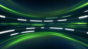Зеленая предпосылка научной фантастики Стоковое Изображение RF