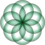 Зеленая предпосылка логотипа дизайна цветка Стоковое Фото