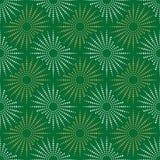 Зеленая предпосылка плитки золотой и белой текстуры ткани безшовная Стоковые Фото