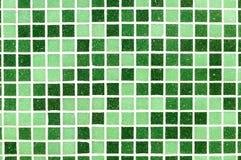Зеленая предпосылка плиток мозаики иллюстрация вектора