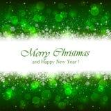 Зеленая предпосылка рождества с звездами искры бесплатная иллюстрация