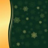 Зеленая предпосылка рождества иллюстрация вектора
