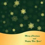 Зеленая предпосылка рождества иллюстрация штока