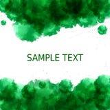 Зеленая предпосылка свежести Абстрактный стиль акварели с местом для текста в середине Стоковое Изображение RF