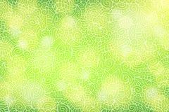 Зеленая предпосылка с флористическими скручиваемостями Стоковое фото RF