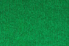 Зеленая предпосылка текстуры ткани, конец вверх Стоковое Изображение RF