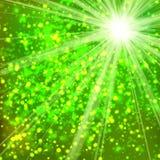 Зеленая предпосылка текстуры ткани Стоковое Изображение