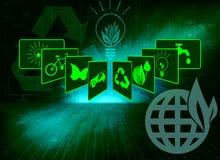 Зеленая предпосылка для экологичности Стоковое Изображение RF