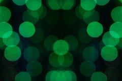 Зеленая предпосылка bokeh Стоковые Фото