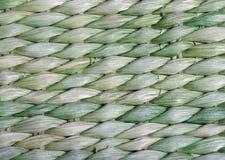 Зеленая предпосылка Weave корзины Стоковая Фотография
