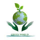 Зеленая принципиальная схема земли планеты Стоковая Фотография