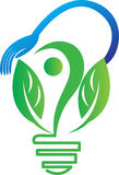 Зеленая принципиальная схема энергии Стоковые Фотографии RF