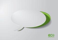 Зеленая принципиальная схема Eco - коробка речи. Стоковое Изображение RF