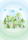 Зеленая пуща иллюстрация штока