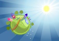 Зеленая планета Стоковые Фотографии RF