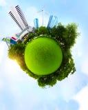 Зеленая планета Стоковая Фотография RF