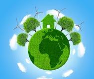 Зеленая планета eco стоковые фото