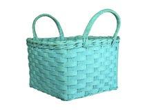 Зеленая плетеная корзина Стоковая Фотография