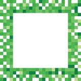 Зеленая рамка пиксела Стоковое фото RF